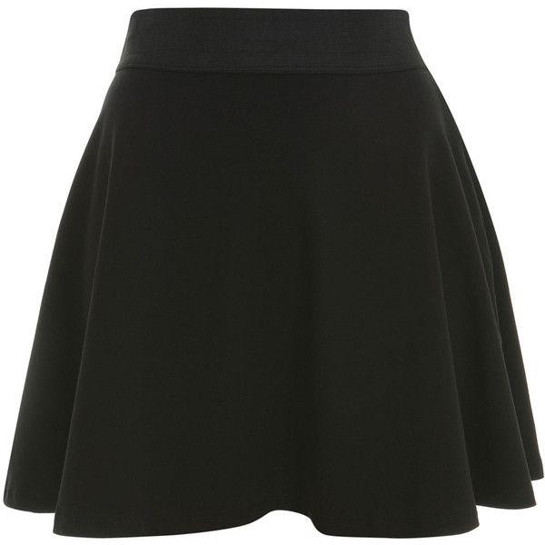 Miss Selfridge Petites Black Skater Skirt ($25) ❤ liked on Polyvore featuring skirts, bottoms, saias, black, petite, skater skirt, knee length skater skirt, flared skater skirt, petite skirts and flared skirt