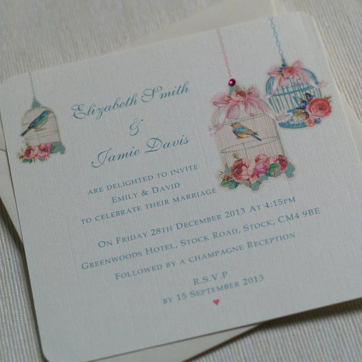 vintage blossom flat wedding invitations by beautiful day | notonthehighstreet.com