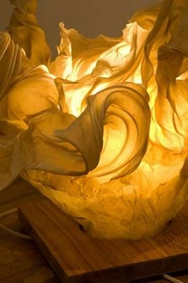 Paper and Light Sculpture by Riki Moss. See more of her work at http://www.rikimoss.com/