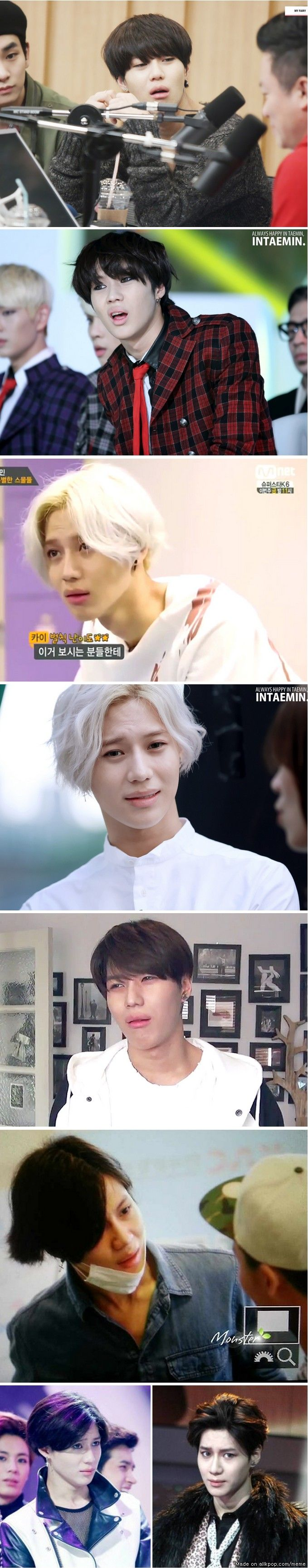 Taemin's judging face is a masterpiece lol - i can't unsee him as heechul's daughter.. kekeke