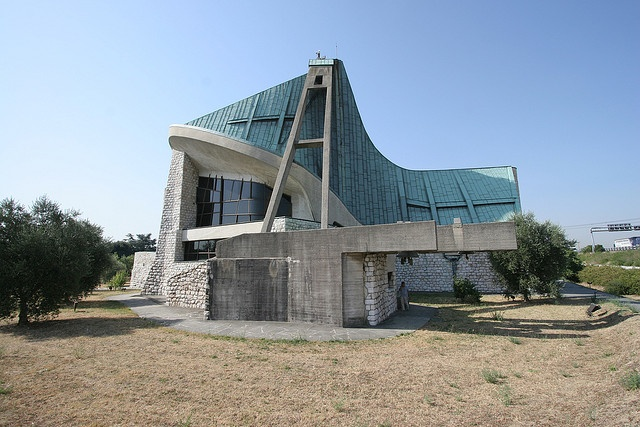 Florence Italy, San Giovanni, Chiesa dell'Autostrada designed by Giovanni Michelucci by B Coleman, via Flickr