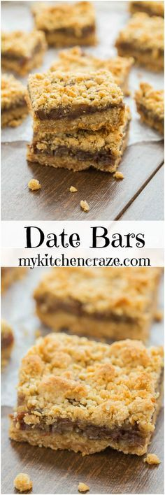 Date Bars ~ mykitchencraze.com