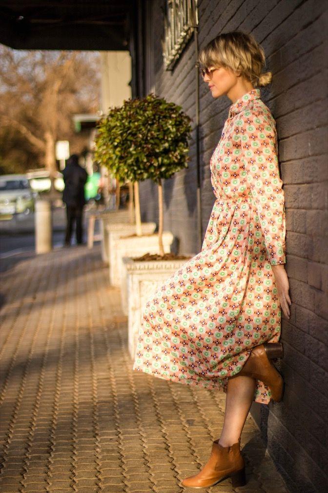 Vintage retro collar dress