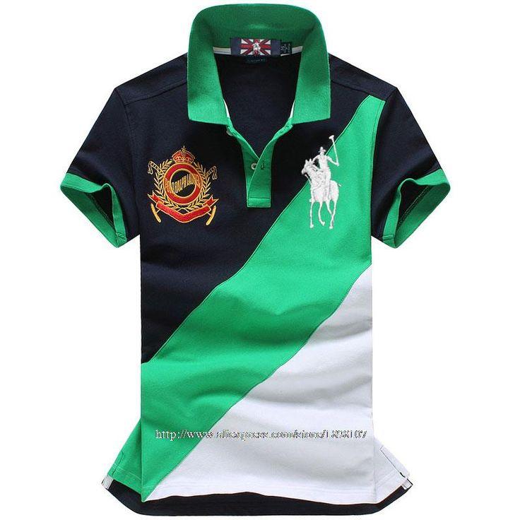 2015 новинка лошадь логотип бренд 100% хлопок лоскутное коротким рукавом полосатая футболка camisa свободного покроя топы купить на AliExpress