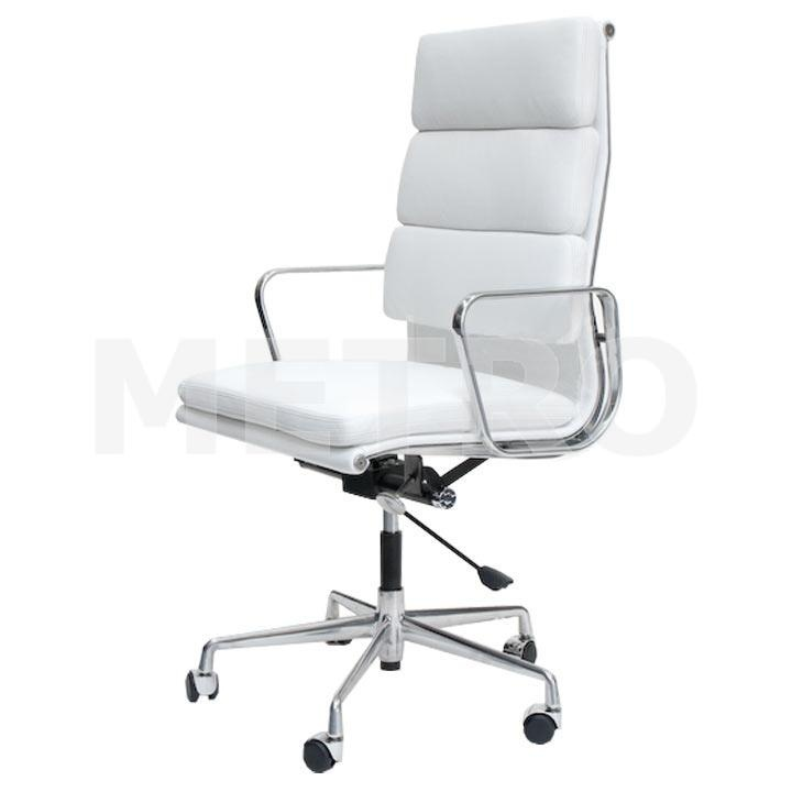 Charles Eames High back soft pad office chair.