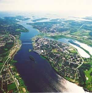 Haparanda and Tornio, border of Finland and Sweden