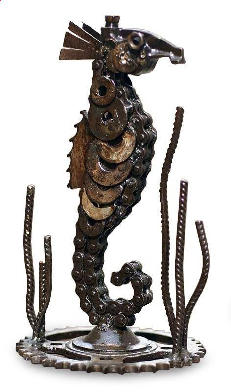LUCKY SEAHORSE Recycled Auto Parts Metal Sculpture Peru ART | eBay Get your Quality, Double Opt-In, Surveyed, Responsive Buyer's Leads Today! ibourl.com/1ohd: