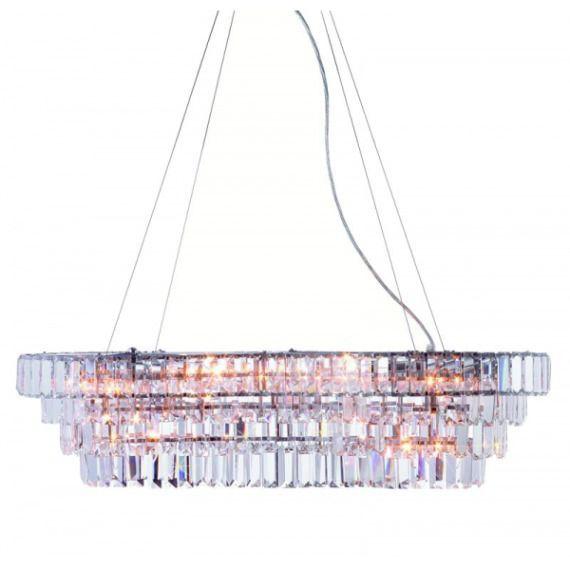 Żyrandol LAMPA wisząca ROCKELSTAD 102445 Markslojd kryształowa OPRAWA ZWIS IP20 crystal chrom przezroczysty