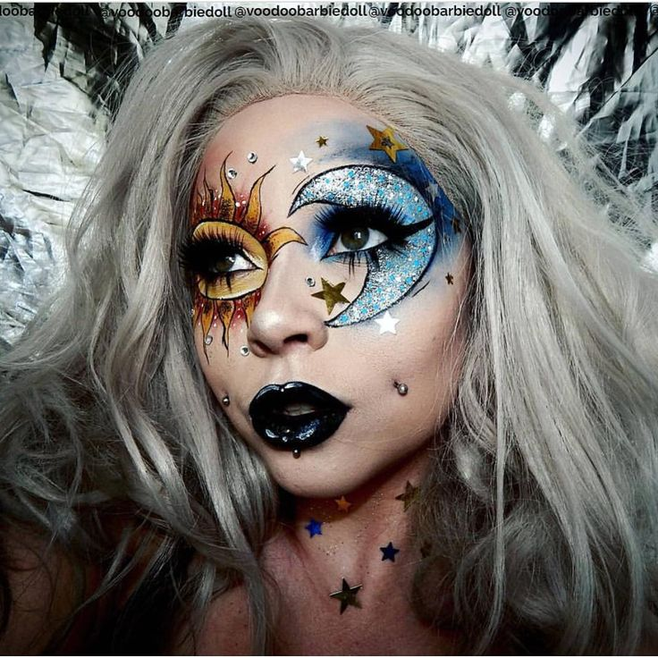 "AMAZING @voodoobarbiedoll using ""Alabaster & DayDream"" #proartistliner  photo inspiration from @milk1422"