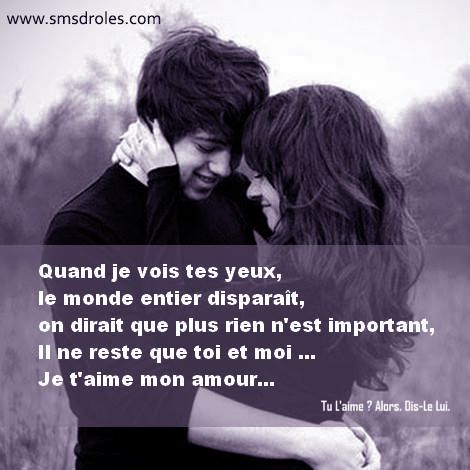 top 25 best les sms d amour ideas on pinterest sms amour message d amour sms and poeme d. Black Bedroom Furniture Sets. Home Design Ideas