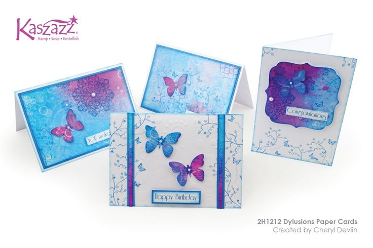 2H1212 Dylusions Paper Cards