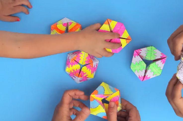 Une patron gratuit pour bricoler un super jeu en papier! Le Flextangles!