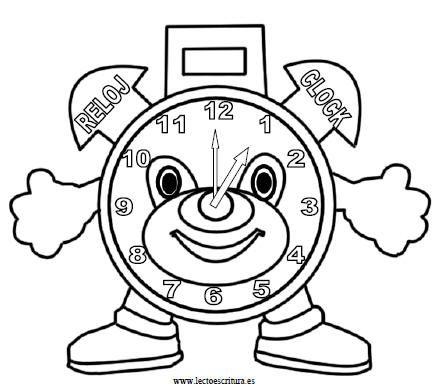 Relojes Animados Para Pintar Buscar Con Google Dibujos Para