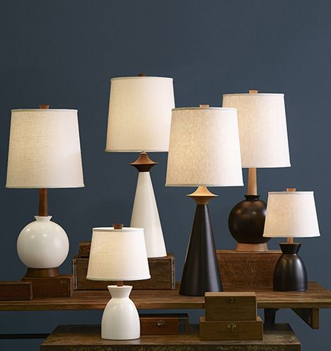 Ceramic and walnut lamps by caravan pacific rejuvenation