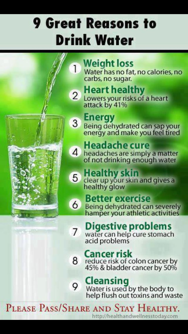 I need to work on drinking water