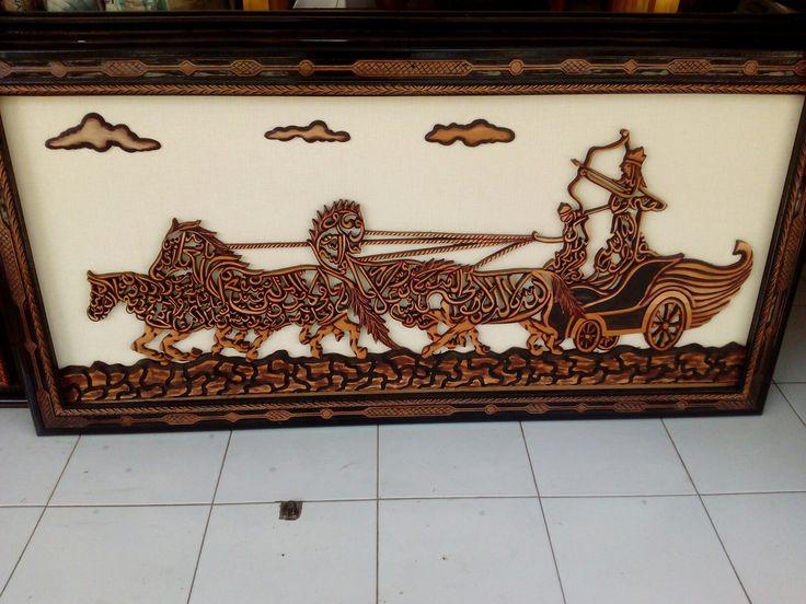 Kerajinan kayu jati indonesia