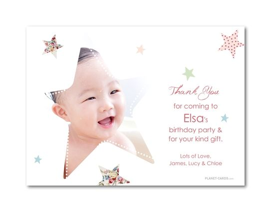 37 best BABY Babys 1st Year images – Personalised 1st Birthday Thank You Cards