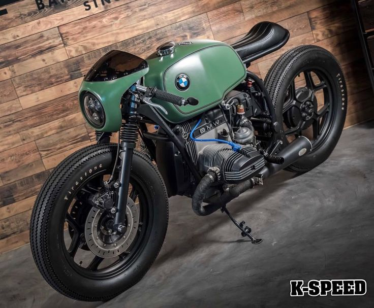 "BMW ""GREENLIGHT RACER"" Custom By K-SPEED. #kspeed #bmwr80 #caferacer"