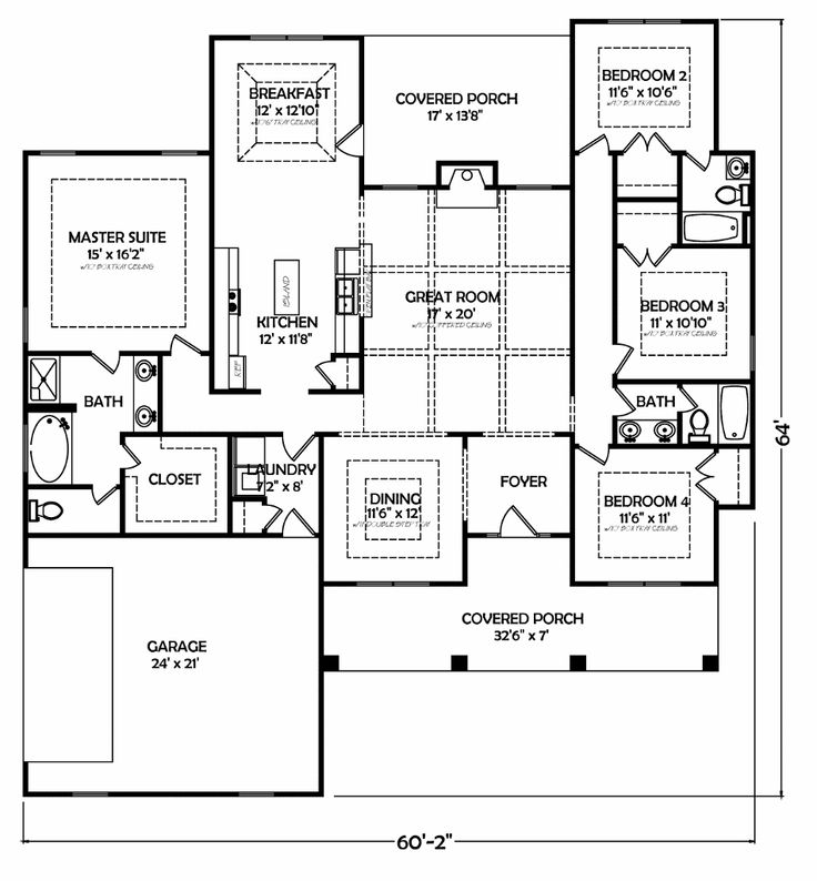 1000 images about limited offer ranch style for Floor plans for 4 bedroom ranch house