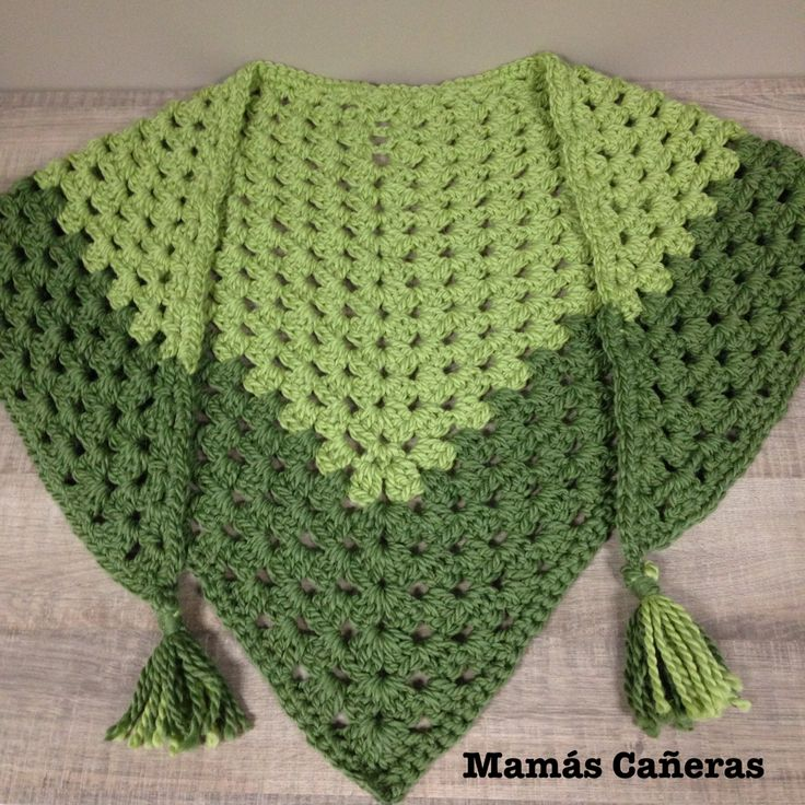 Chal con lana Drops Andes a crochet