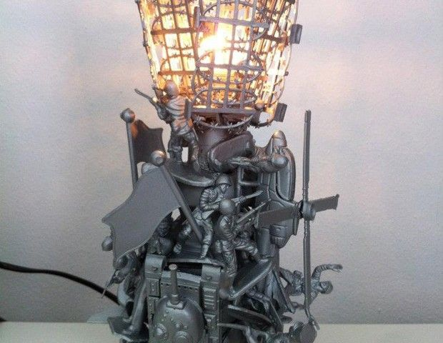 Mini Peace Lamp #hattalab21 #handmade #lamp #toys #toysoldiers