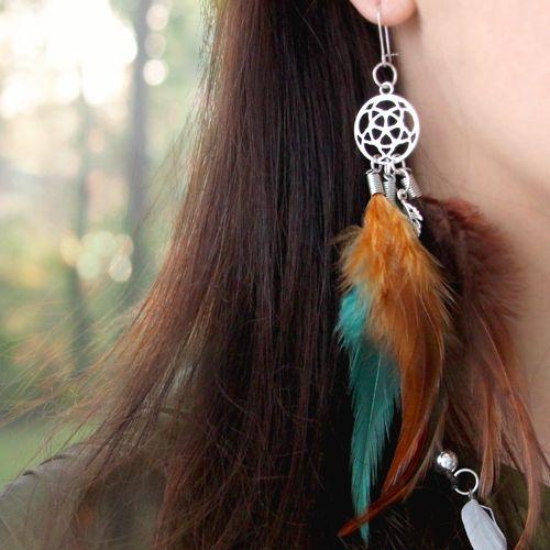 Dieser Schmuck mit prachtvollen Federn ist absolut hipp und super schön um selbst zu machen!