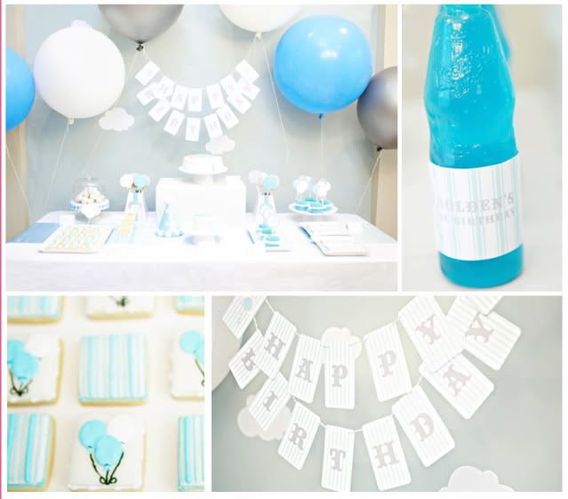 I love the light gray light blue and white baby boy showers