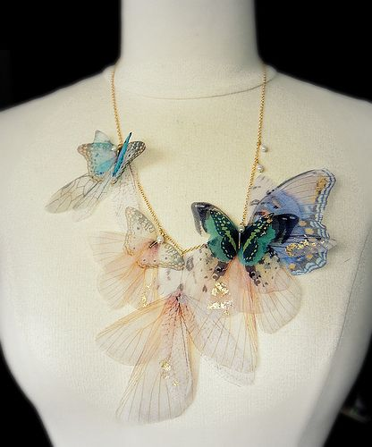 Fluttery Breath of Life- 3 | Transfer on organza, this neckl… | Flickr