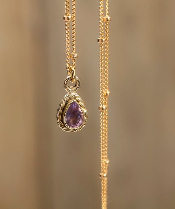 The golden necklace 14k gold chain with a nice by matterandfeeling, €79.00