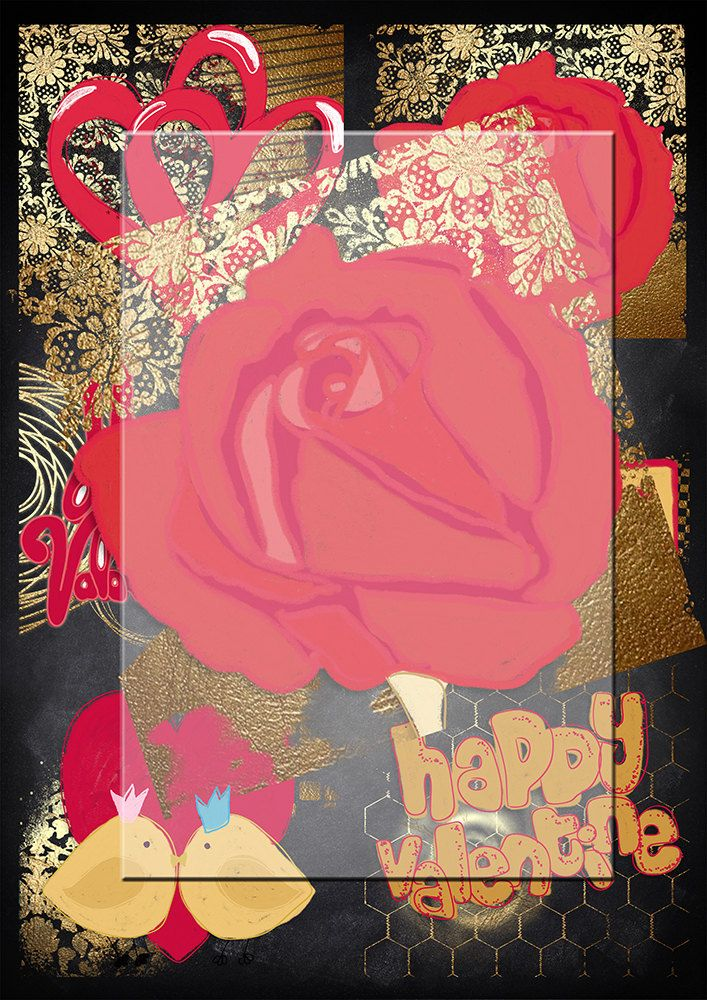 Handrawn png valentine  images...Chalk gold and red background images. plus gift by Lilymelba on Etsy