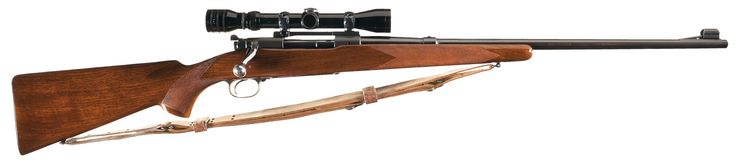 Pre-World War II Winchester Model 70 Bolt Action Rifle in 22 Hornet with Scope