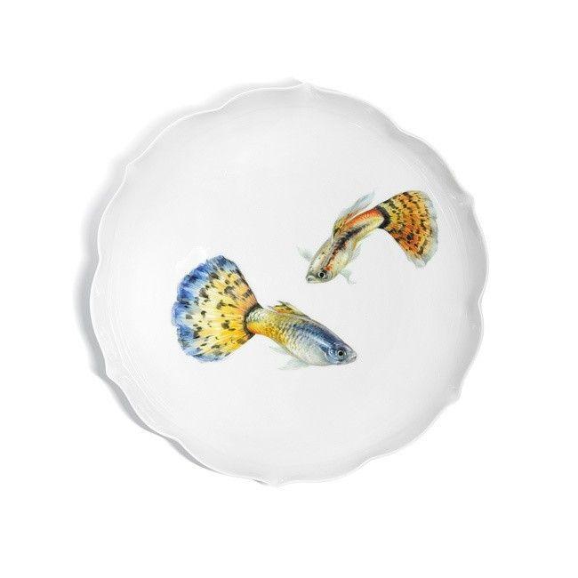 "Dish ""Fish painting"", Ø 24,5 cm"