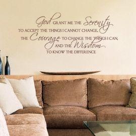 Serenity Prayer Wall Decor 17 best going decal crazy! images on pinterest   vinyl lettering