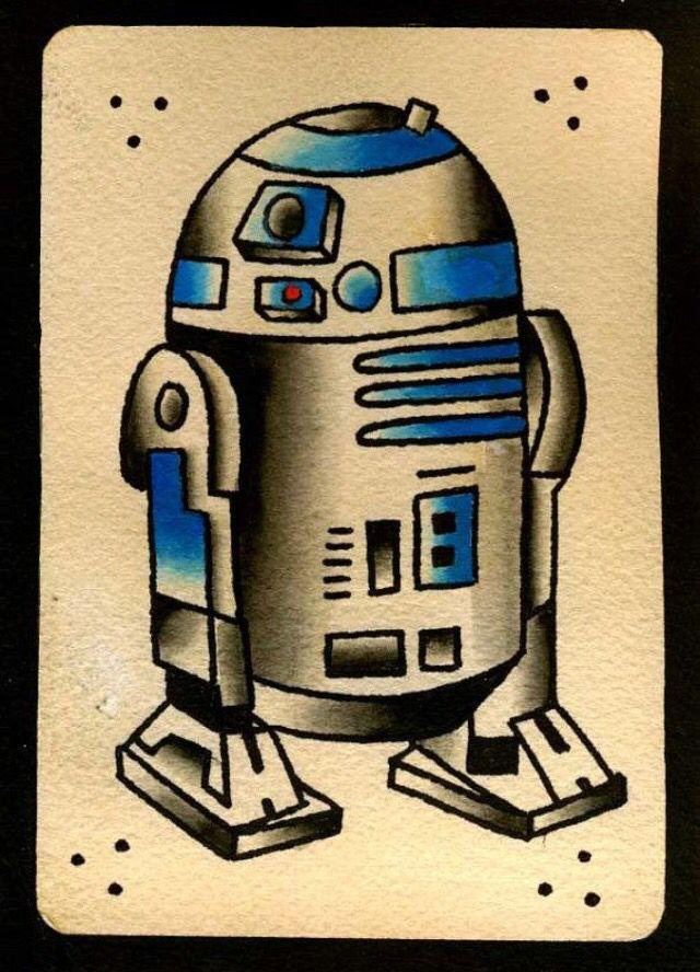 R2d2 old school star wars tattoo