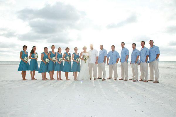 Magic Dress Bridesmaid Uk Inspired Blue Beach Wedding For