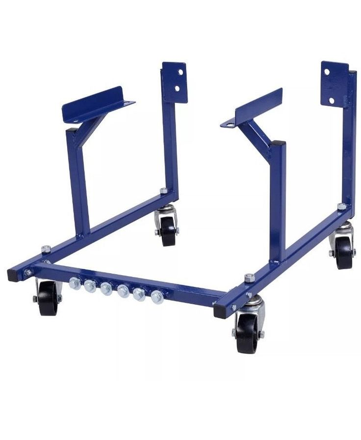BLUE 1000lb Auto Engine Cradle Stand Ford Dolly Mover Repair Rebuild w/Wheels  | eBay