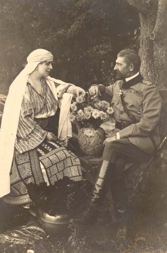 Queen Marie and King Ferdinand of Romania.
