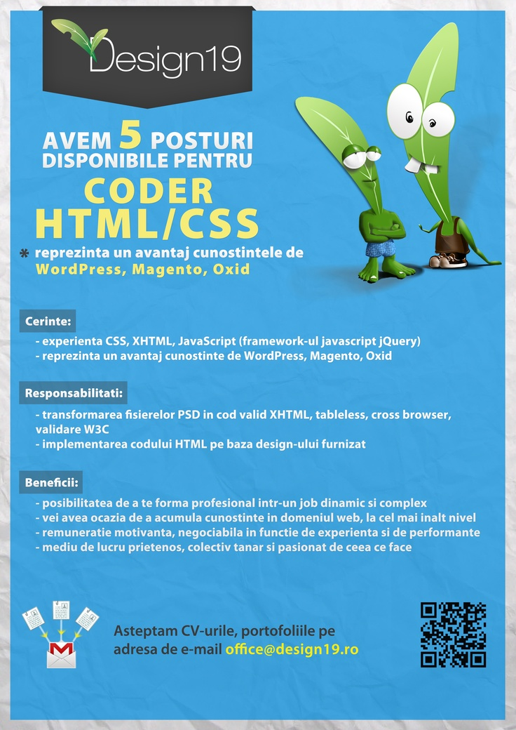 HTML/CSS coders Wanted
