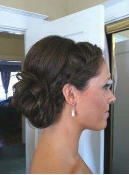 This french braided updo is the one I want ! Eddie and Melissa's wedding!