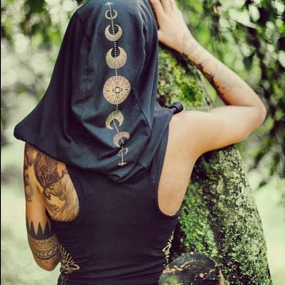 Moon Phase Hood - Celestial Outfit Ideas - Photos