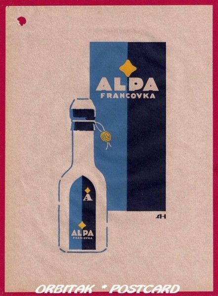 Starý reklamní leták: Alpa | Orbitak Postcard