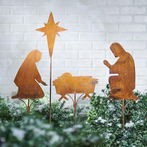 Nativity Scene Yard Stakes Set Christmas Nativity Scene Nativity Unique Christmas Gifts