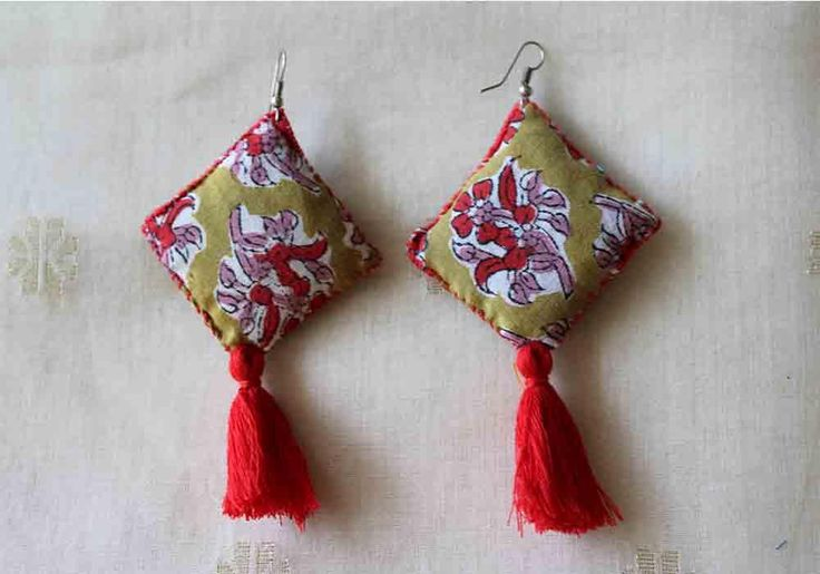 Upcycled Cotton Earrings – Desically Ethnic