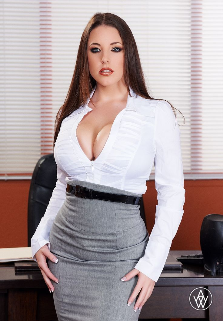 Angela White - Aussie Porn Star  Sexy Outfit-Office -9751