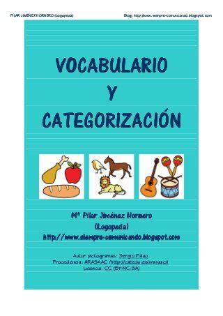 Vocabulario y Categorizacion