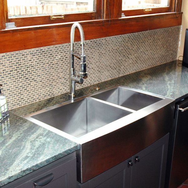 Lowes Stainless Steel Kitchen Sinks Origami Folding Island Cart Looks Like Our Sink ( ) The Is Flush With ...