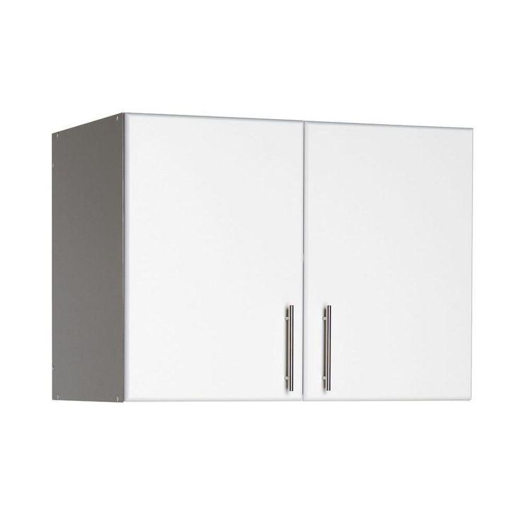 Prepac Elite 32 In Wood Laminate Cabinet In White Doors