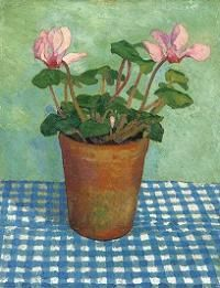 Dora Carrington Cyclamen in a Pot Print