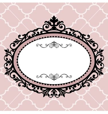 Oval #4 Vintage frame vector on VectorStock®