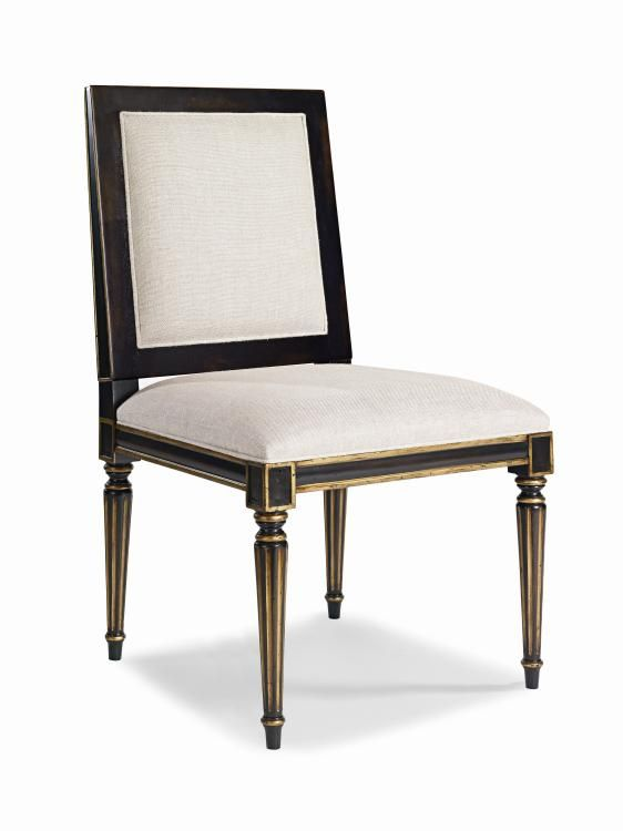 Мягкий стул с черным покрытием в золотой отделке. •Изготовлен из акации твердой породы. •У стула мягкая обивка сиденья и спинки.             Метки: Кухонные стулья.              Материал: Ткань, Дерево.              Бренд: Century Furniture LLC.              Стили: Классика и неоклассика.              Цвета: Бежевый, Темно-коричневый.